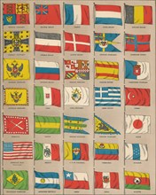 Flags of the world, 1889. Creator: W & AK Johnston.