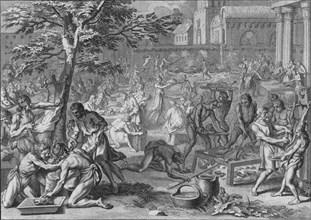 'Festin a L'Honneur du Soleil, le jour du grand Ramy', 1723.  Creator: Bernard Picart.