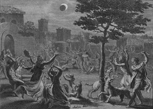 'Desolation des Peruviens pendant L'Eclipse de Lune', 1723.  Creator: Bernard Picart.