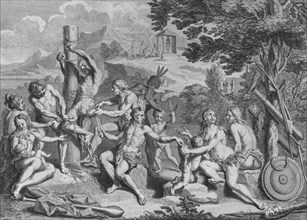 'Captif Sacrifié par les Antis', 1723. Creator: Bernard Picart.