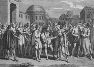 'Maniere dont L'Yncas marie Ceux de son Sang', 1723.  Creator: Bernard Picart.