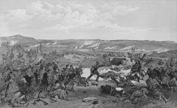 'Battle of the Tchernaya, 16th August 1855'.  Creator: RM Bryson.
