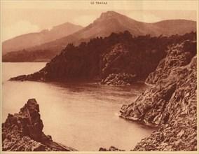 'View of Aurelius peak and  Cap Roux, Le Trayas', 1930. Creator: Unknown.
