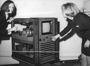 TV set from 1936 at the Funkausstellung (radio and TV exhibition), Stuttgart, Germany, 1969. Artist: Unknown
