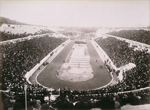 View of the first modern Olympic Games in Athens, 1896. Artist: Unknown