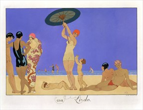 'At the Lido', 1920. Artist: Henri Reidel