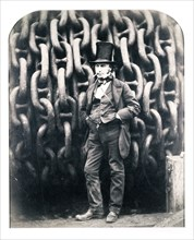 Isambard Kingdom Brunel, British engineer, 1857. Artist: Robert Howlett