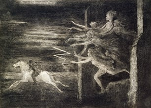 'And scarcely had he Maggie rallied, When out the hellish legion sallied', 19th century. Artist: Richard Cockle Lucas