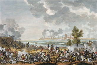 The Battle of San Giorgio di Mantova, Italy, 29 Fructidor, Year 4 (September 1796). Artist: Jean Duplessis-Bertaux