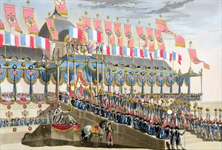 'Sacred Festival and Coronation of their Imperial Majesties', Paris, 1804 (1806).  Artist: Francois Aubertin