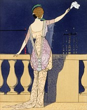 'Farewell at Night', c1910s. Artist: Georges Barbier