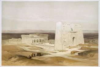 Temple of Edfu, ancient Apollinopolis, Upper Egypt, 19th century. Artist: David Roberts