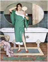German advertisement for 'Adler' steel bathtubs, 20th century. Artist: Unknown