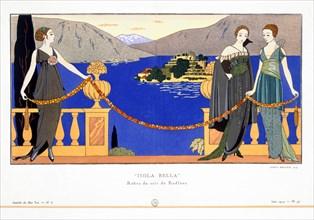 'Isola Bella', evening dresses designed by Redfern, 1914. Artist: Georges Barbier