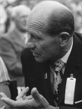 Emil Zátopek (1922-2000) at the Munich Olympics, 1972. Artist: Unknown