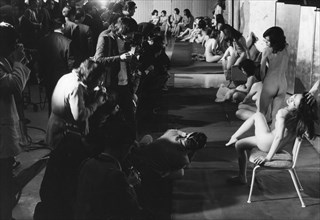 100 nude Japanese model shot by 500 amateur photographers, Shinjuku, Tokyo, 1973. Artist: Unknown