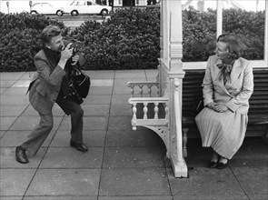 Margaret Thatcher being photographed by the Times's Harry Karr, Brighton, 10th October 1978. Artist: Unknown