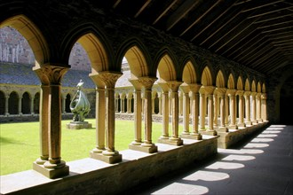 Cloisters of Iona Abbey, Argyll and Bute, Scotland.