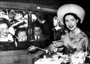 Princess Margaret during a royal visit to Glasgow, 1962. Artist: Unknown