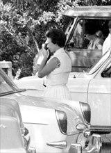 Princess Margaret taking photos in Rome, 1965. Artist: Unknown