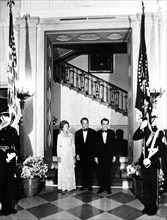 Mrs Nixon, West German Chancellor Willy Brandt and President Nixon at the White House, 1973. Artist: Unknown
