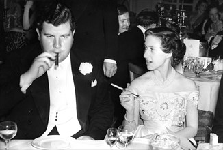 Princess Margaret and Jeremy Tree at a charity ball at the Savoy Hotel, London, 1953. Artist: Unknown