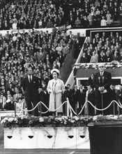 The opening ceremony of the 1966 World Cup at Wembley, 11th July 1966. Artist: Unknown
