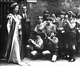 The Queen photographed by the Choir School of Westminster Abbey, London, 1972. Artist: Unknown