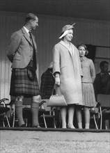Queen Elizabeth attendeds the Braemar Games, Scotland, September 1961. Artist: Unknown
