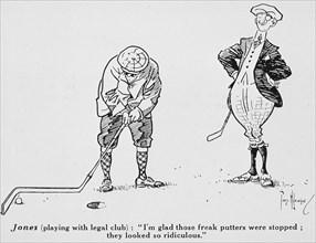Cartoon from Golf Illustrated, 1911. Artist: Tom Wilkinson