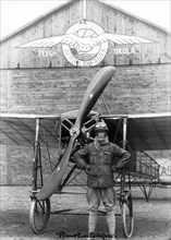 Early aviation at Ljungbyhed, Sweden, 1917. Artist: Unknown