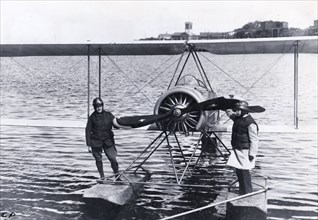 Thulin LA seaplane from Enoch Thulin's aircraft factory, Landskrona, Sweden, 1919. Artist: Unknown
