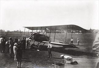 Thulin LA biplane, Landskrona, Sweden, 1918. Artist: Unknown
