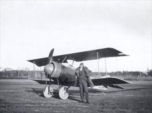 Thulin NA biplane, Landskrona, Sweden, 1919. Artist: Unknown