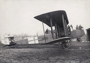 German Friedrichshafen G III bomber, Ljungbyhed airfield, Sweden, 1919. Artist: Unknown