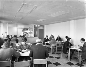 Canteen at Spillers Animal Foods, Gainsborough, Lincolnshire, 1961. Artist: Michael Walters