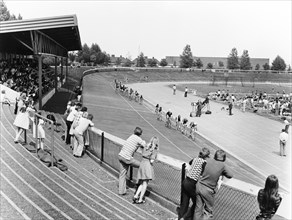 Harvey Hadden Stadium, Bilborough, Nottingham, September 1975. Artist: Edgar Lloyd