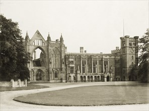 West aspect of Newstead Abbey, Nottinghamshire, c1900. Artist: Henson & Co