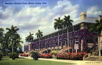 'Beautiful Hialeah Park, Miami Jockey Club', Florida, USA, 1940. Artist: GW Romer