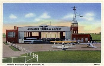 Lancaster Municipal Airport, Lancaster, Pennsylvania, USA, 1940. Artist: Unknown