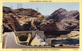 Arizona Spillway, Boulder Dam, Arizona/Nevada, USA, 1940. Artist: Unknown