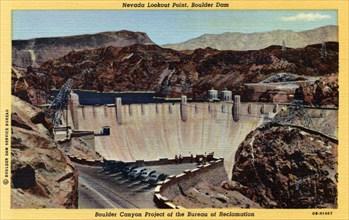 Nevada Lookout Point, Boulder Dam, Arizona/Nevada, USA, 1940. Artist: Unknown