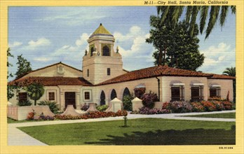 City Hall, Santa Maria, California, USA, 1940. Artist: Unknown