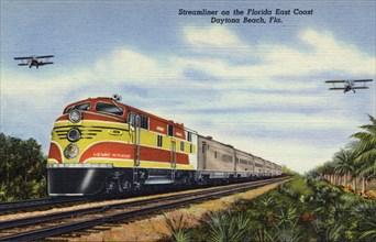 FEC Railway streamliner train Henry M Flagler, Florida, 1940. Artist: Unknown