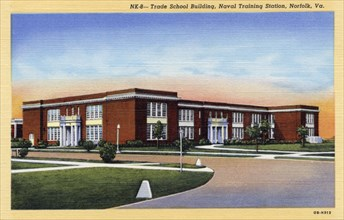Trade School Building, Naval Training Station, Norfolk, Virginia, USA, 1940. Artist: Unknown