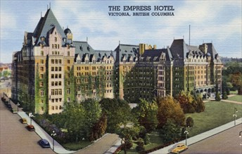 View of the Empress Hotel in Victoria, British Columbia, Canada, 1940. Artist: Unknown