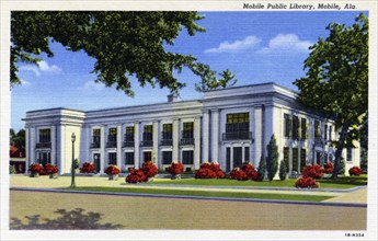 Mobile Public Library, Mobile, Alabama, USA, 1941. Artist: Unknown