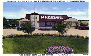 Mother Madsen's Restaurant, Amarillo, Texas, USA, 1941. Artist: Unknown