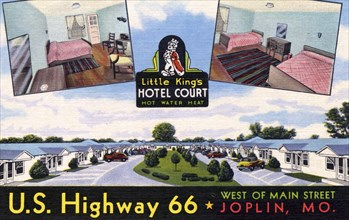 Little King's Hotel Court, Joplin, Missouri, USA, 1948. Artist: Unknown