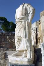 Headless statue, Roman gymnasium, Salamis, North Cyprus.